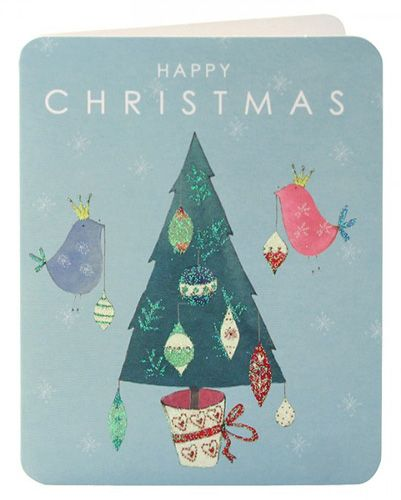 Birds Decorating Tree Mini Cards (pack of 5)