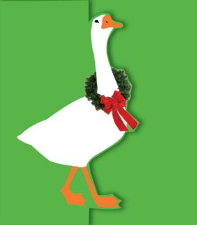 Goose with Wreath x 5 Cards