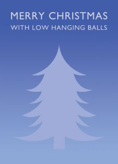 Merry Christmas with low hanging balls