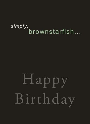 Simply, Brownstarfish...