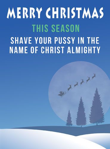 Shave Your Pussy in the name of Christ Almighty