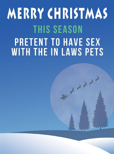 Pretend to have sex with the in laws pets
