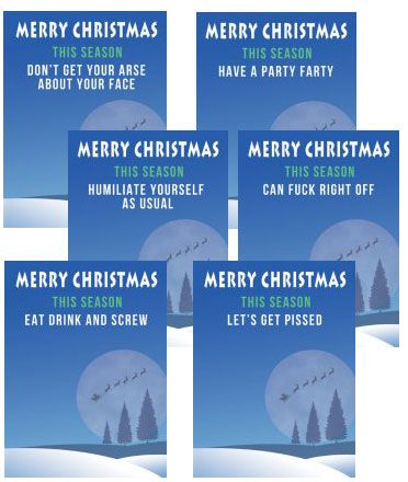 the Party Animals Xmas Multi Pack x 6