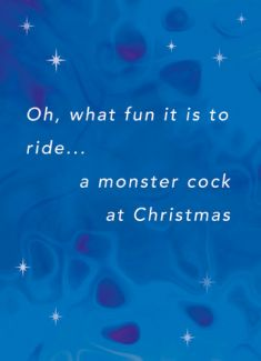 Oh, what fun it is to ride.. a monster cock at Christmas