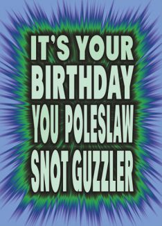 It's your birthday You Poleslaw Snot Guzzler