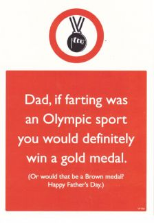 Olympic Farting 'Happy Fathers Day'