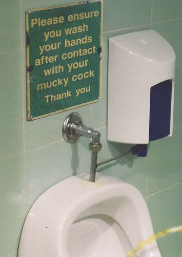 Please ensure you wash your hands after contact with your mucky cock, thank you