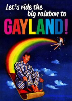 Let's ride the big rainbow to Gayland