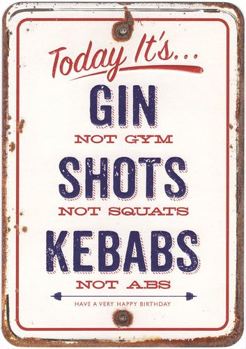 GIN not GYM