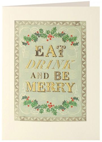 Eat Drink Merry Layers Cards (pack of 5)