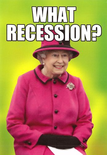 What recession?