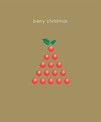 Berry Christmas x 5 Cards