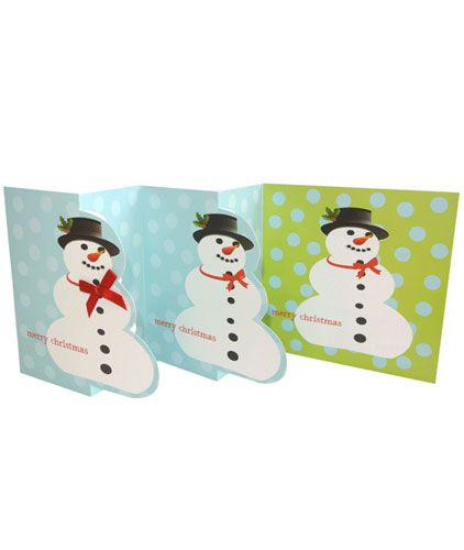 Snowman (Multi-folded) x 5 Cards