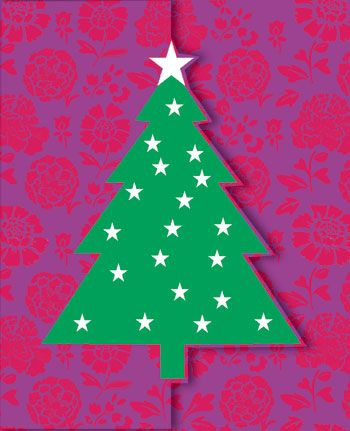 Christmas Tree x 5 Cards