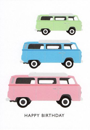 Coloured Camper Vans