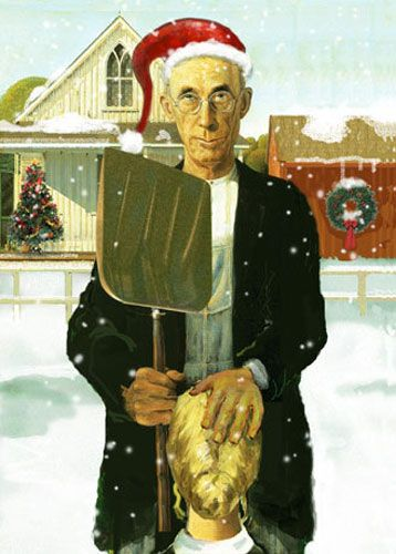 American Gothic Christmas BJ