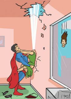Super Hero Blows His Top